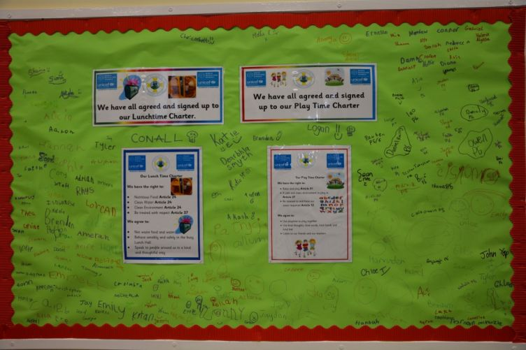 Everyone signed our Lunchtime Charter